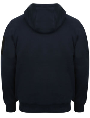 Blocker Zip Through Hoodie with Borg Lining in Midnight Blue – Dissident