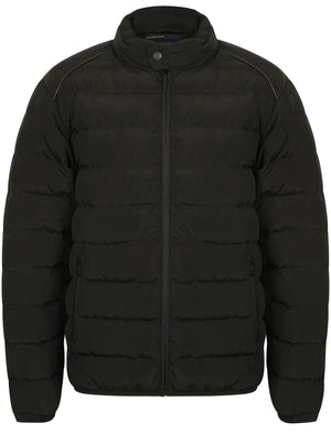 Brayfield Quilted Jacket with Stand Collar in Black - Dissident