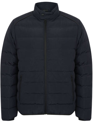 Brayfield Quilted Jacket with Stand Collar in True Navy - Dissident
