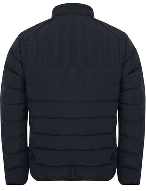 Brayfield Quilted Jacket with Stand Collar in True Navy – Dissident