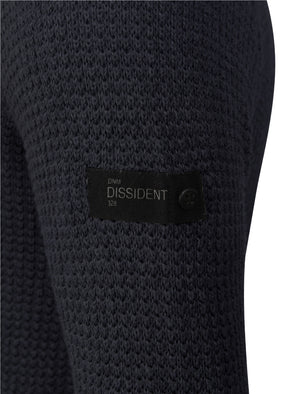 Bruner Cable Knit Pullover Jumper in True Navy - Dissident