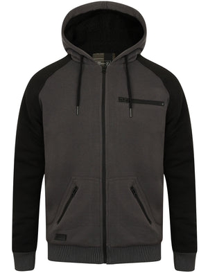 Cadim Zip Through Hoodie with Borg Lining in Asphalt Grey – Dissident