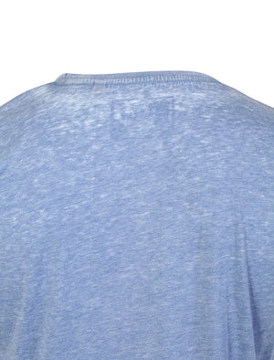 Carburn Burnout T-Shirt in Federal Blue - Dissident