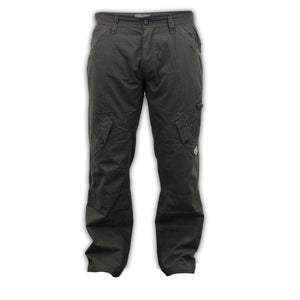 Dissident Cotton Canvas Cargo Grey Trousers