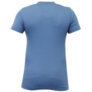 Dissident T-shirt with front pocket in blue