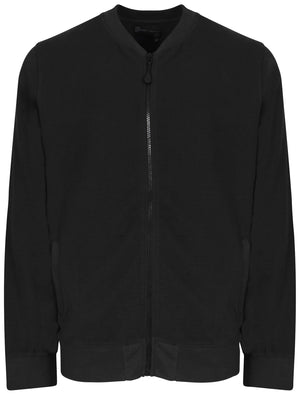 Coley Stripe Jersey Bomber Jacket in Black - Dissident
