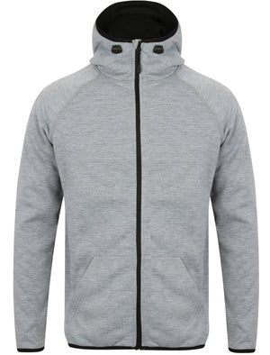 Cowley 2 Fleece Lined Zip Through Hoodie in Light Grey Marl – Dissident