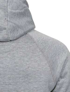 Cowley Funnel Neck Zip Through Hoodie in Light Grey Marl - Dissident