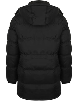Dagney Quilted Puffer Coat with Hood In Black - Dissident