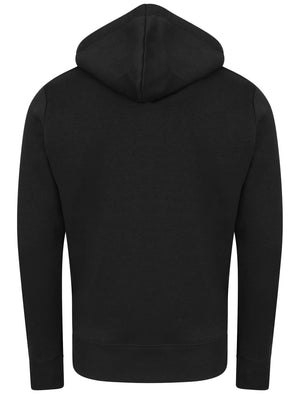 Dignum Zip Through Hoodie in Black - Dissident