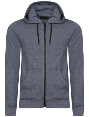 Dryden Diamond Quilted Hoodie in Blue - Dissident