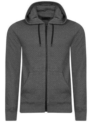 Dryden Diamond Quilted Hoodie in Charcoal - Dissident