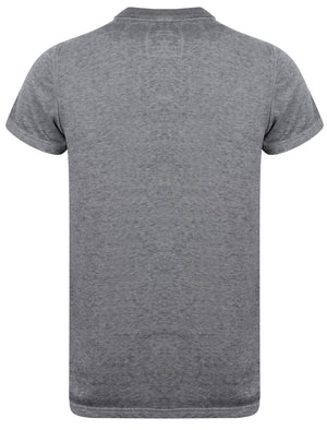 Engineered Motif Burnout T-Shirt In Asphalt Grey – Dissident