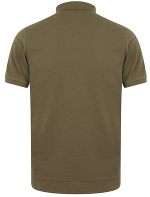 Haru Cotton Pique Polo Shirt In Khaki - Dissident