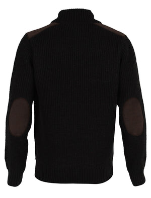 Dissident Hatton Polo Neck Sweater in charcoal