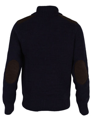 Dissident Hatton Polo Neck Sweater in navy