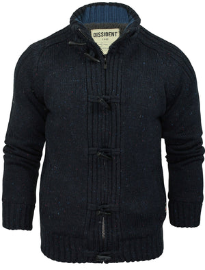 Dissident Sherpa-lined Chunky Knit Hawthorn blue Cardigan