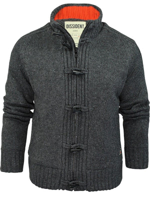 Dissident Sherpa-lined Chunky Knit  charcoal Cardigan