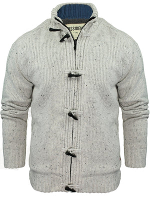 Dissident Sherpa-lined Chunky Knit  grey Cardigan