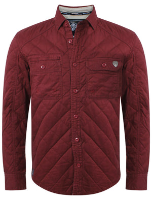 Dissident Hicks Quilted Shirt in Oxblood