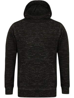 Holla Textured Space Dye Pullover Hoodie in Black – Dissident