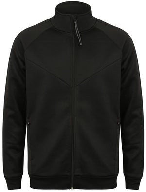 Homerton Zip Through Track Jacket in Black – Dissident