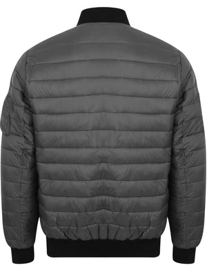 Joliffe Quilted Bomber Jacket in Graphite Grey – Dissident