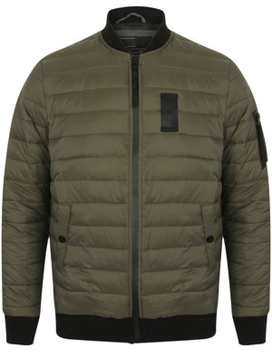 Joliffe Quilted Bomber Jacket in Amazon Khaki – Dissident