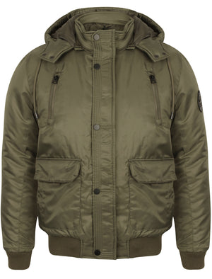 Keble Padded Coat with Detachable Hood in Amazon Khaki - Dissident
