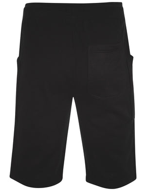 Men's mesh detail pockets black sweat shorts - Dissident
