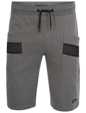 Men's mesh detail pockets grey sweat shorts - Dissident