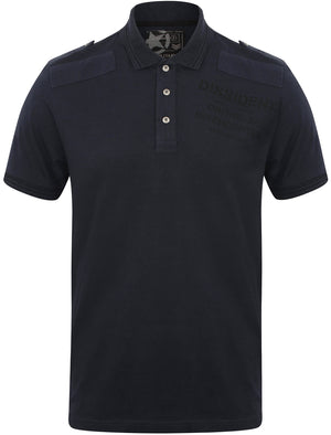 Militant Jersey Polo Shirt in True Navy – Dissident