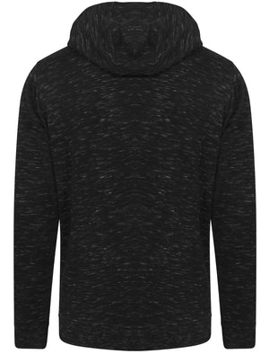 Mitre Space Dye Zip Through Hoodie in Black – Dissident