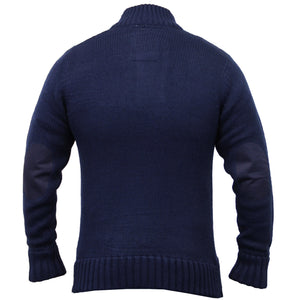 Dissident Mortlock Chunky Knit Jumper in Blue