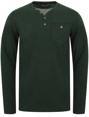 Ngami Cotton Jersey Long Sleeve Top with Mock Layer In Pine Grove - Dissident