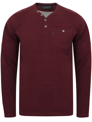 Ngami Cotton Jersey Long Sleeve Top with Mock Layer In Winetasting - Dissident