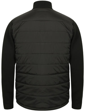 Patton Quilted Jacket With Knitted Sleeves in Black - Dissident
