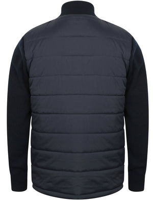 Patton Quilted Jacket With Knitted Sleeves in Dark Navy - Dissident