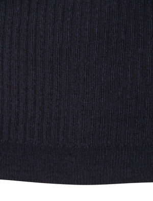 Peyroux Ribbed Roll Neck Jumper in Blue – Dissident