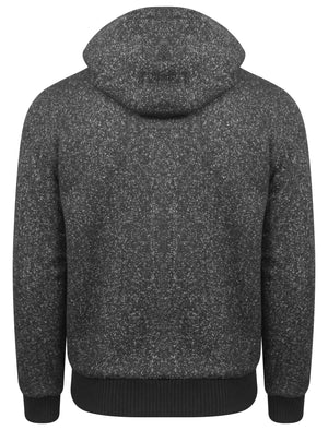 Rammer Sherpa Lined Hoodie in Charcoal Fleck - Dissident