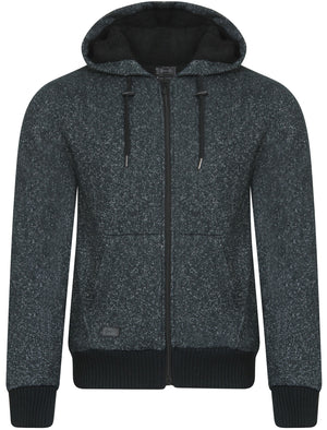 Rammer Sherpa Lined Hoodie in Dark Blue Fleck - Dissident