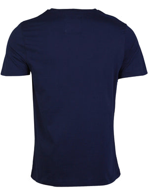 Dissident Rhode Island  printed cotton T-Shirt in Estate Blue