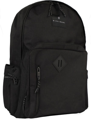 Salt Lake Canvas Backpack In Black - Dissident