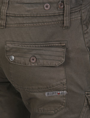 Stallone Cargo Trousers in Dark Khaki – Dissident