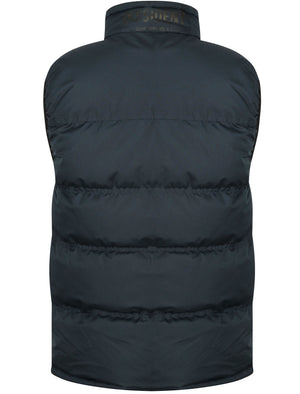 Tacoma Quilted Gilet with Chest Pocket in True Navy – Dissident