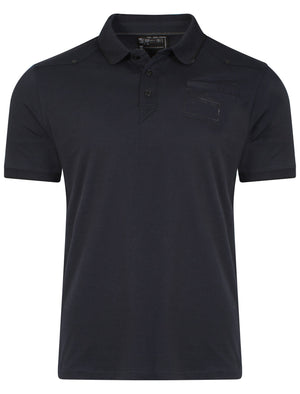Cotton Polo Shirt in True Navy - Dissident