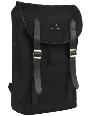 Thompson River Drawstring Canvas Backpack In Black – Dissident