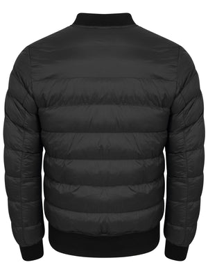 Tinsley Quilted Puffer Bomber Jacket in Black - Tokyo Laundry