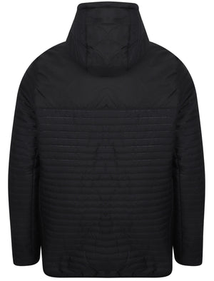 Tynemouth Embossed Quilted Puffer Jacket in Black – Dissident