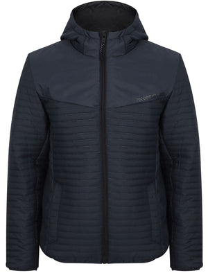 Tynemouth Embossed Quilted Puffer Jacket in Turbulence Blue – Dissident